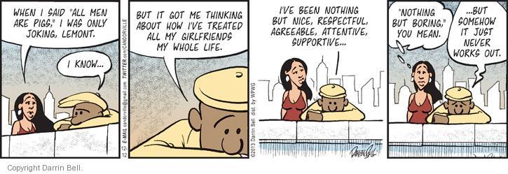 Comic Strip Darrin Bell  Candorville 2013-12-12 treating