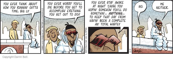 Comic Strip Darrin Bell  Candorville 2013-12-13 fear