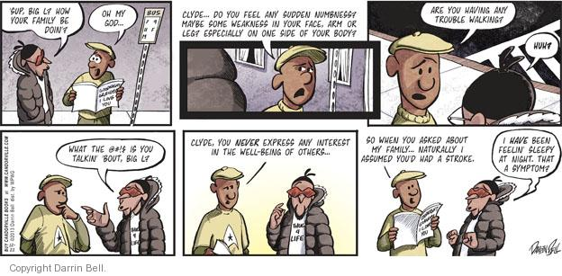 Comic Strip Darrin Bell  Candorville 2013-12-22 walk
