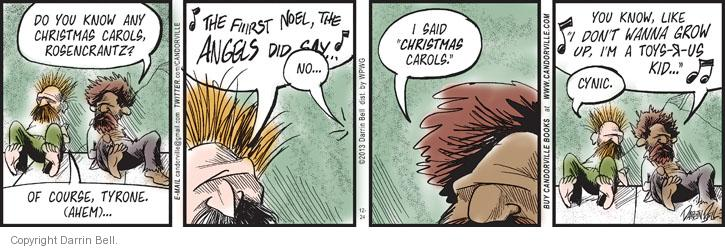Comic Strip Darrin Bell  Candorville 2013-12-24 christmas song