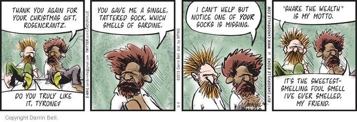 Cartoonist Darrin Bell  Candorville 2013-12-26 share