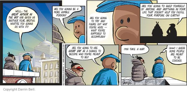 Comic Strip Darrin Bell  Candorville 2014-01-05 indifferent