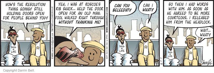 Comic Strip Darrin Bell  Candorville 2014-01-01 man