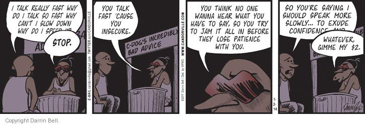 Comic Strip Darrin Bell  Candorville 2014-01-02 insecure