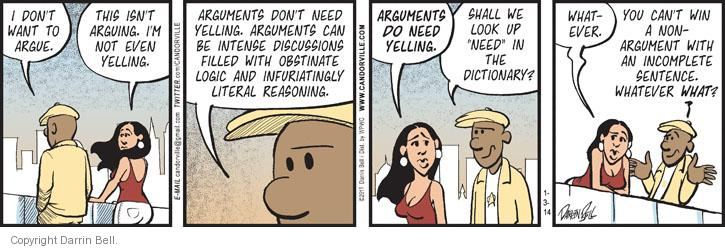 Comic Strip Darrin Bell  Candorville 2014-01-03 disagreement
