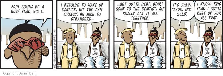 Comic Strip Darrin Bell  Candorville 2014-01-06 new year's resolution