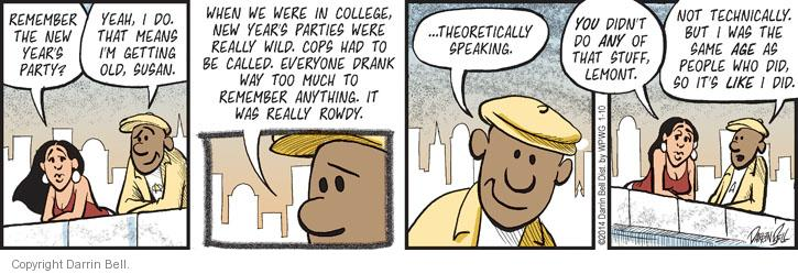 Comic Strip Darrin Bell  Candorville 2014-01-10 get old