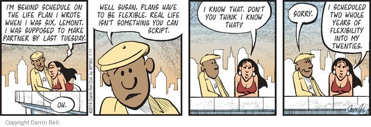 Comic Strip Darrin Bell  Candorville 2014-01-11 partner