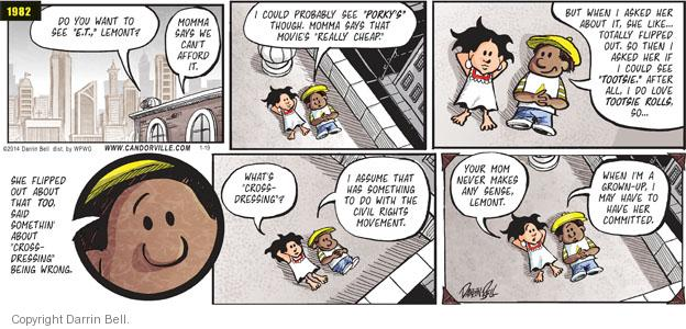 Comic Strip Darrin Bell  Candorville 2014-01-19 afford