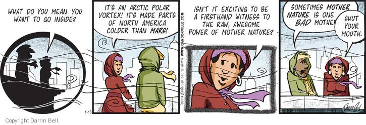 Comic Strip Darrin Bell  Candorville 2014-01-13 temperature