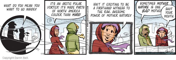 Cartoonist Darrin Bell  Candorville 2014-01-13 north