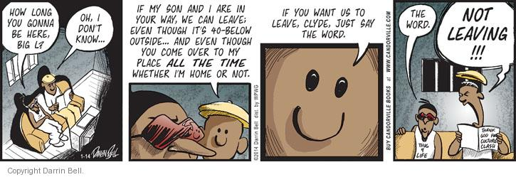 Cartoonist Darrin Bell  Candorville 2014-01-14 big word
