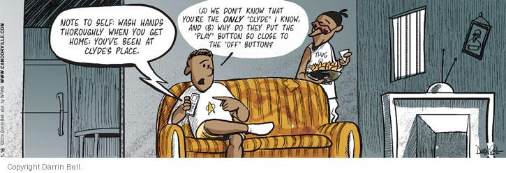 Comic Strip Darrin Bell  Candorville 2014-01-16 note
