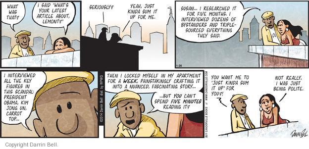 Comic Strip Darrin Bell  Candorville 2014-01-26 top