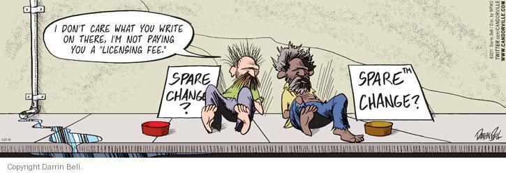 Cartoonist Darrin Bell  Candorville 2014-01-27 intellectual property