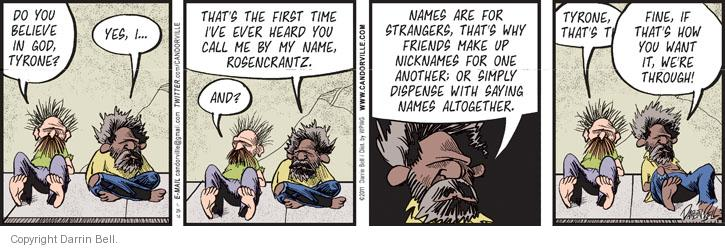 Comic Strip Darrin Bell  Candorville 2014-01-29 first name