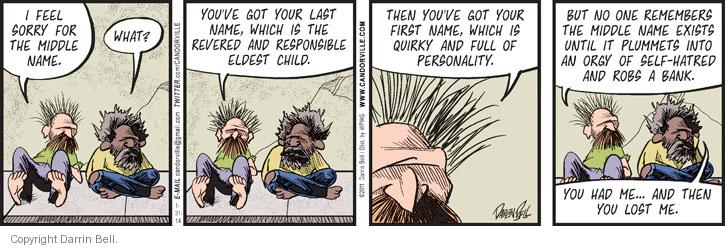 Comic Strip Darrin Bell  Candorville 2014-01-31 first name