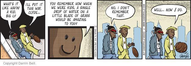 Comic Strip Darrin Bell  Candorville 2014-02-05 grass