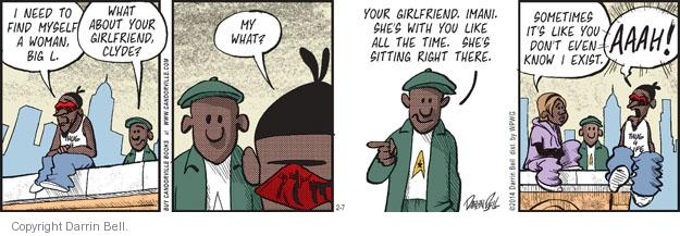 Comic Strip Darrin Bell  Candorville 2014-02-07 indifference
