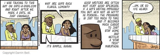 Comic Strip Darrin Bell  Candorville 2014-02-08 simple