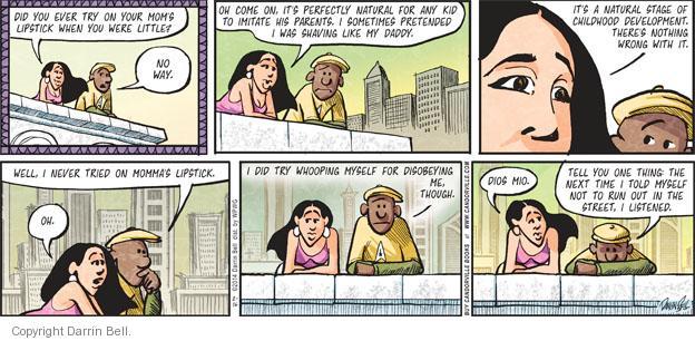 Cartoonist Darrin Bell  Candorville 2014-02-16 momma