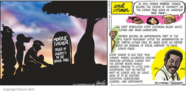 Comic Strip Darrin Bell  Candorville 2014-02-23 honor