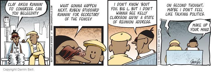 Comic Strip Darrin Bell  Candorville 2014-02-10 Secretary of State