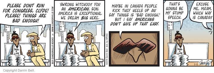 Cartoonist Darrin Bell  Candorville 2014-02-12 son