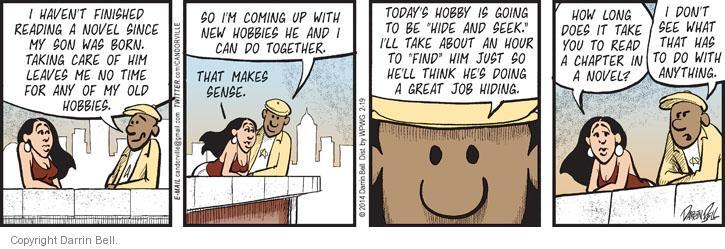Comic Strip Darrin Bell  Candorville 2014-02-19 lifestyle
