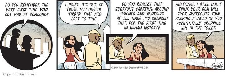 Comic Strip Darrin Bell  Candorville 2014-02-24 digital