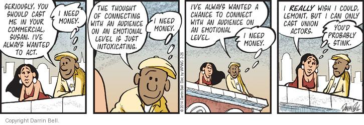 Comic Strip Darrin Bell  Candorville 2014-02-26 producer