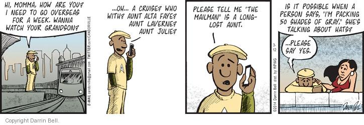 Comic Strip Darrin Bell  Candorville 2014-03-12 hat