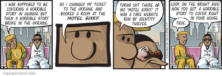 Comic Strip Darrin Bell  Candorville 2014-03-17 booking