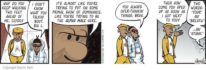 Cartoonist Darrin Bell  Candorville 2014-03-19 big word