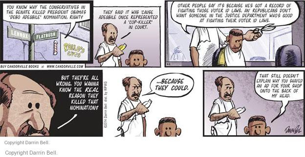 Comic Strip Darrin Bell  Candorville 2014-04-06 nominee