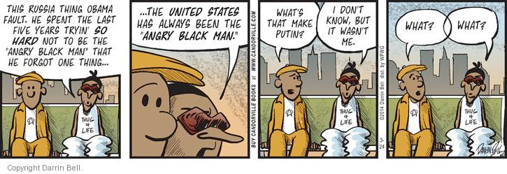 Comic Strip Darrin Bell  Candorville 2014-03-24 foreign policy