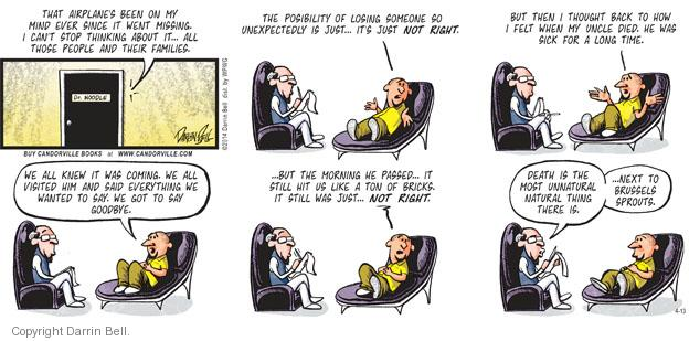 Comic Strip Darrin Bell  Candorville 2014-04-13 Brussels