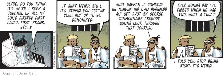 Comic Strip Darrin Bell  Candorville 2014-04-01 journal