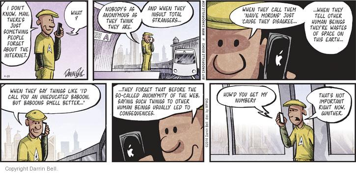 Comic Strip Darrin Bell  Candorville 2014-04-20 internet privacy