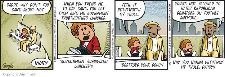 Comic Strip Darrin Bell  Candorville 2014-04-08 lunch