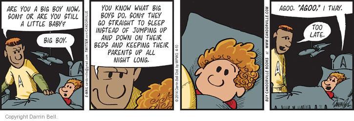 Comic Strip Darrin Bell  Candorville 2014-04-10 sleep