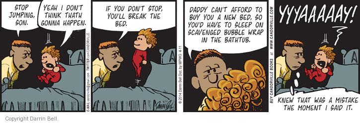 Comic Strip Darrin Bell  Candorville 2014-04-11 afford