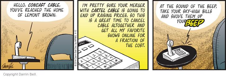 Comic Strip Darrin Bell  Candorville 2014-04-12 cable