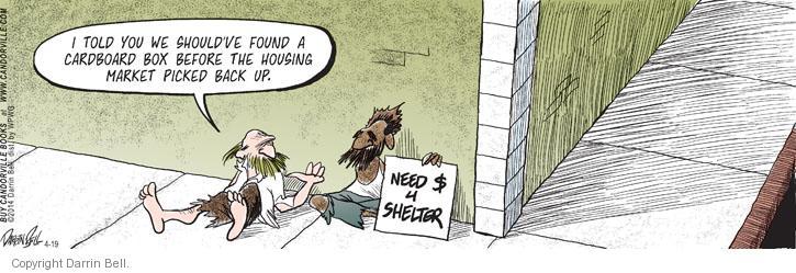 Comic Strip Darrin Bell  Candorville 2014-04-19 shelter