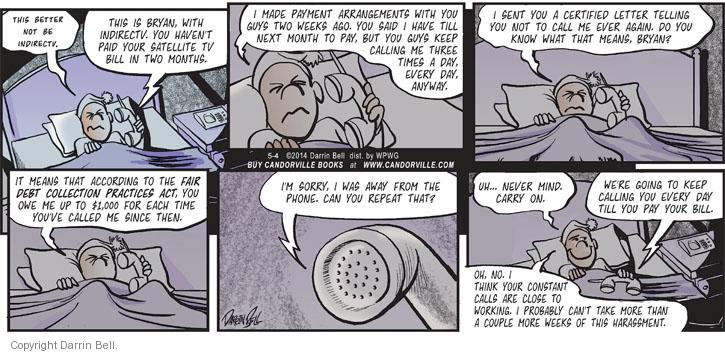 Comic Strip Darrin Bell  Candorville 2014-05-04 two weeks