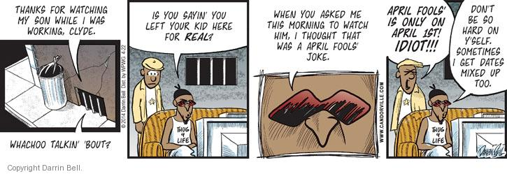 Comic Strip Darrin Bell  Candorville 2014-04-22 real