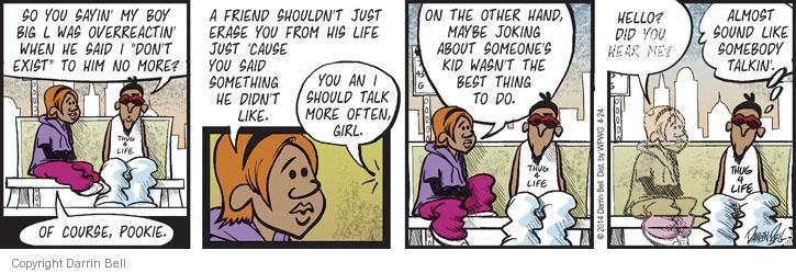 Comic Strip Darrin Bell  Candorville 2014-04-24 friendship