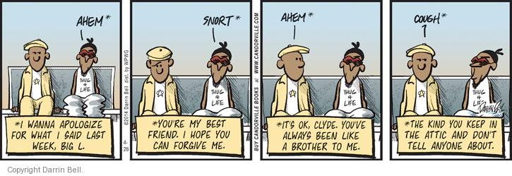 Comic Strip Darrin Bell  Candorville 2014-04-28 apology