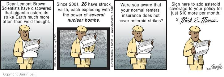 Comic Strip Darrin Bell  Candorville 2014-04-30 brown