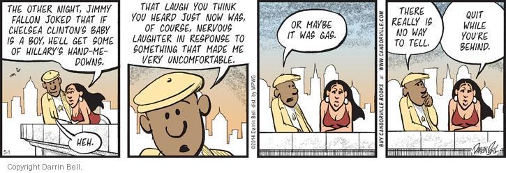 Comic Strip Darrin Bell  Candorville 2014-05-01 nervous